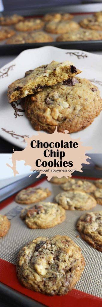 These chocolate chip cookies are tender with a chewy interior, slightly crispy edges, and amazing caramelized flavor