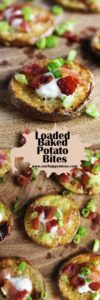 These loaded baked potato bites are a super easy party appetizer that folks of all ages will love. #partyfood #loadedbakedpotato #partyappetizersThese loaded baked potato bites are a super easy party appetizer that people of all ages will love. All the flavor of potato skins but fancy enough for a cocktail party. Click over to see how to make these adorable crowd-pleasing bites and watch them disappear before you know it! #loadedbakedpotato #partyfood #partyappetizer