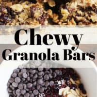 These chewy granola bars are chock full of good-for-you ingredients, and perfect for mid-day snack attacks. Mix up the mix-ins to your heart's content for your own custom bar!