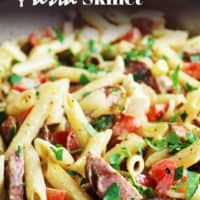 This easy and versatile sausage and vegetable pasta skillet makes a quick, crowd-pleasing weeknight meal, ready in under 30 minutes. Mix it up with whatever meat and veggies you have in your fridge or freezer.