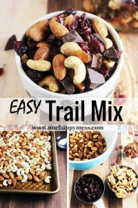 Collage healthy trail mix