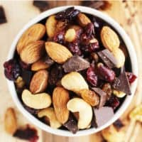 Healthy trail mix in a bowl