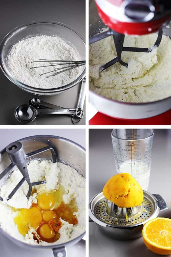 Steps for making batter for orange cake