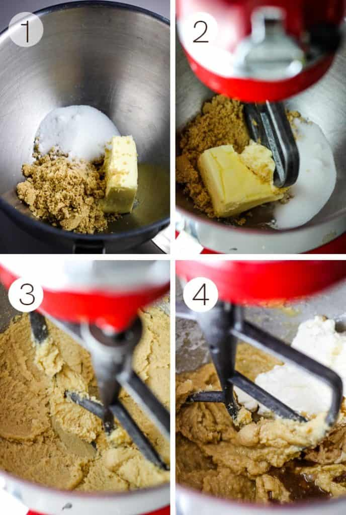 steps for mixing muffin batter