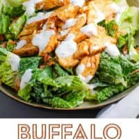 A bowl of buffalo chicken salad
