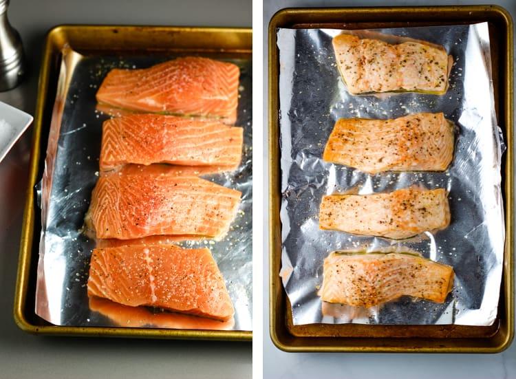steps for roasting salmon fillets