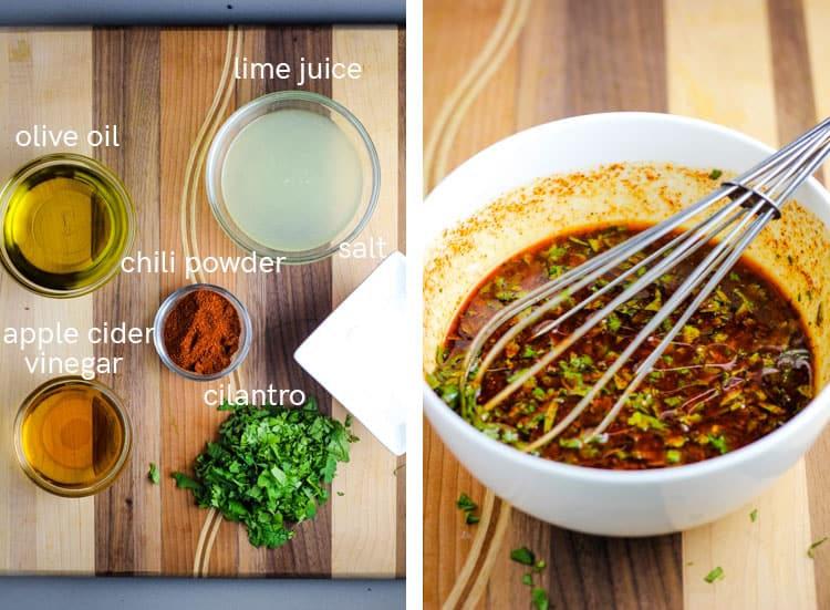 steps for making lime chili dressing